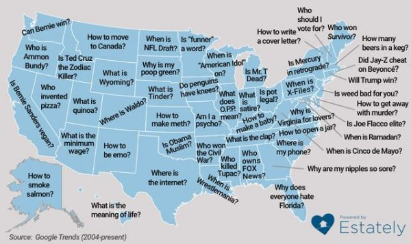 What Questions the 50 States Ask Google