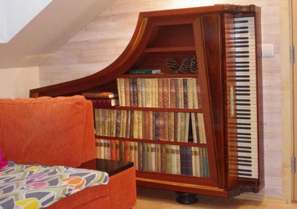 Piano Bookcase Neatorama