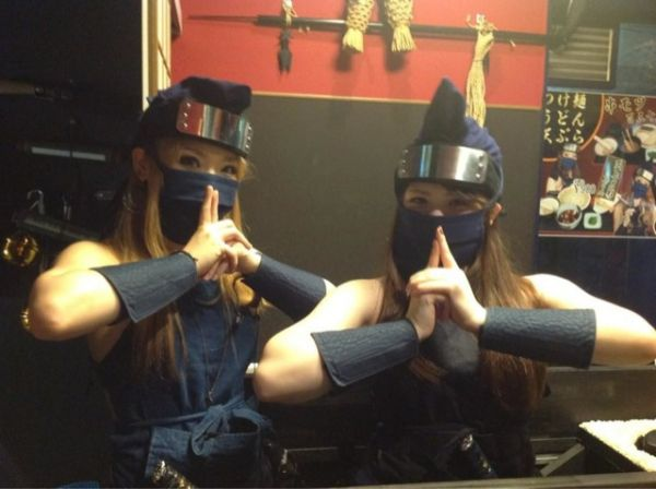 Odd complaints about a female ninja themed restaurant in