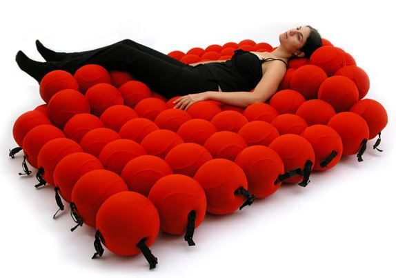 Weird ChairBed Consists Of 120 Soft Balls Neatorama