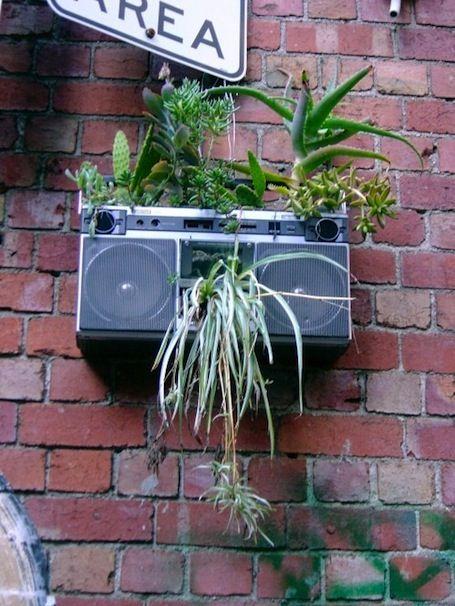 boombox planter