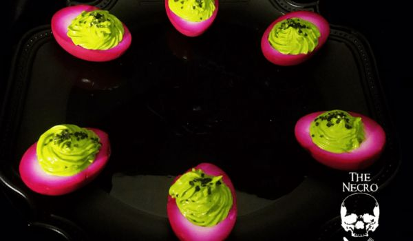 Pickled Basilisk Eggs with Wasabi and Avocado