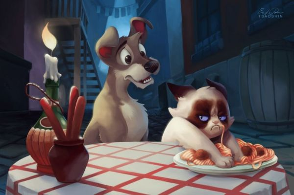 Grumpy Cat Cartoon Disney