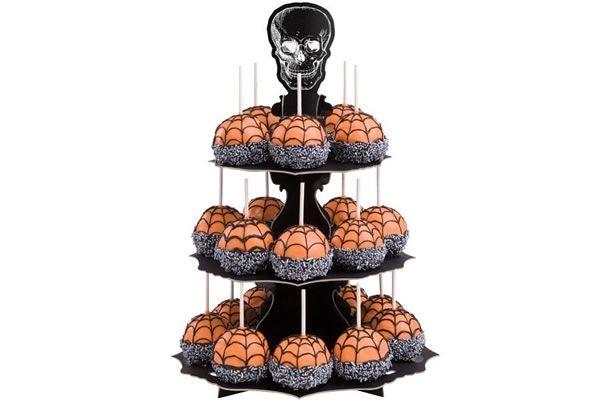 skull cupcake stand neatorama - Halloween Cupcake Holder