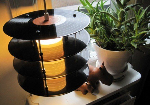 lamps made of old vinyl records