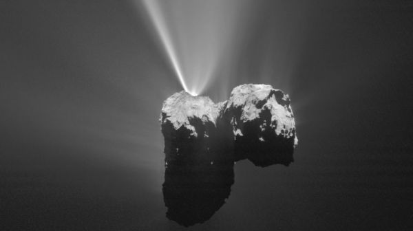 Snowstorm on a Comet