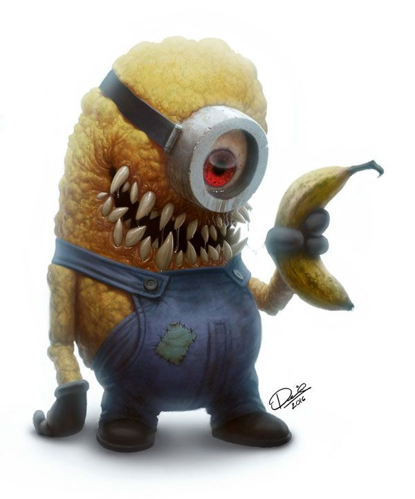 Cutesy Cartoon Characters Transformed Into The Stuff Of Nightmares
