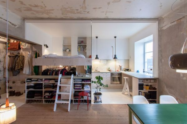 The Small Swedish Apartment With A Whole Lot of Storage Space ...