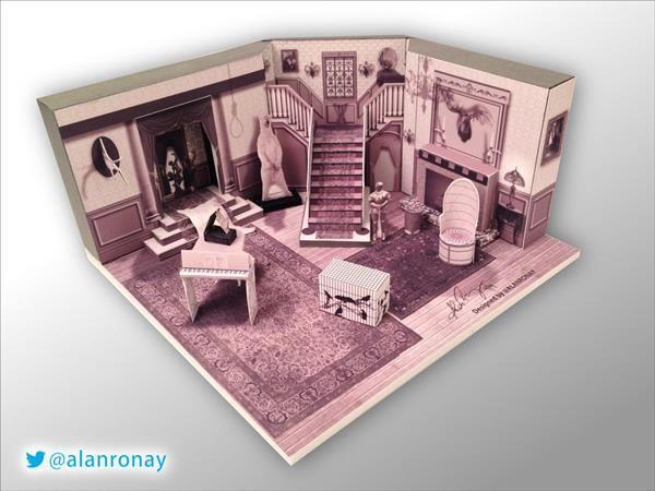 amazingly detailed papercraft addams family house - neatorama