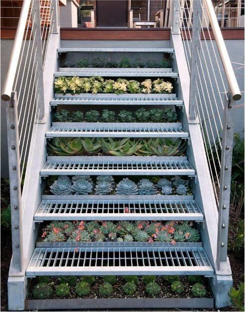 A garden under the stairs neatorama - Small space farming image ...