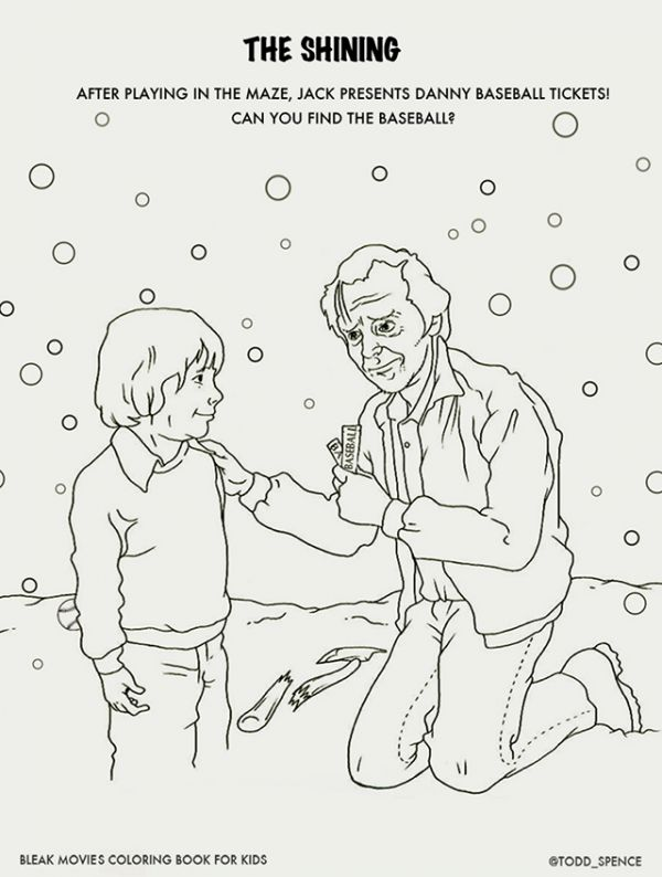 bleak movies coloring book - Thrill Murray Coloring Book