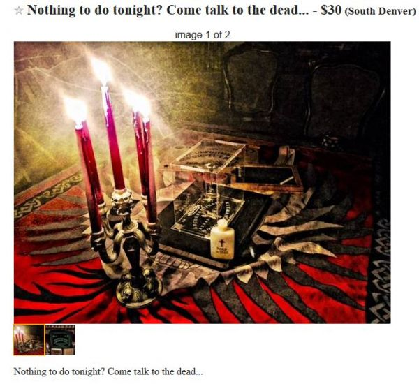 The Seance and Other Denver Craigslist Ads