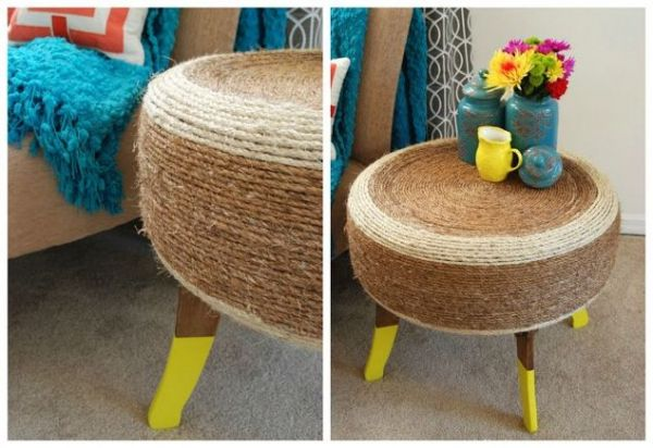 How To Turn A Used Tire Into Upcycled Furniture Neatorama