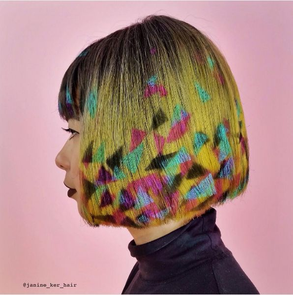Janine Ker39s Technicolor Graffiti Hair  Neatorama
