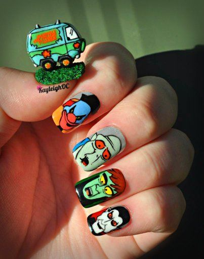 Scooby doo nails neatorama scooby doo nail artist prinsesfo Image collections