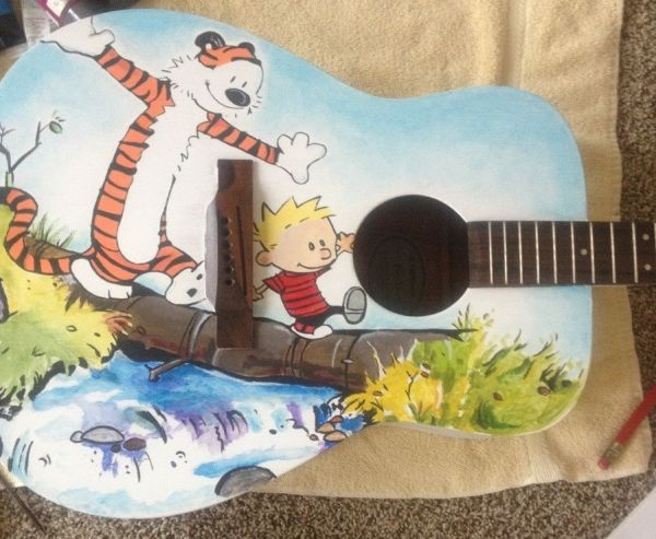 Calvin and Hobbes guitar