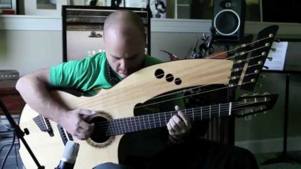 """""""Streets Of Whiterun"""" From Skyrim Played On A Beautiful Harp Guitar"""