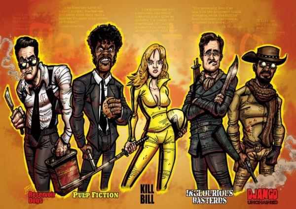 21 Cool Pieces Of Quentin Tarantino Fan Art Neatorama