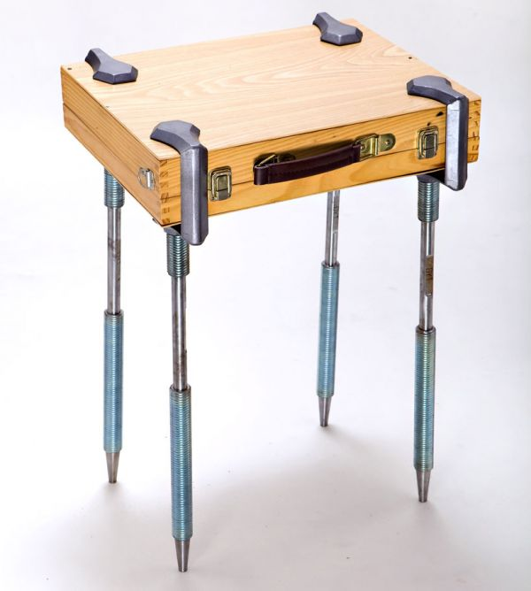 C Clamp Legs Turn Any Flat Object Into A Table Neatorama