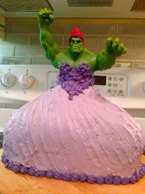 4 Year Olds Ask For A Princess Hulk Cake Get One