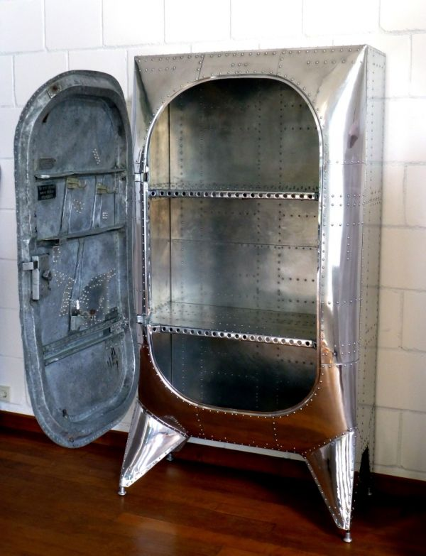 Cabinet made from an old aircraft door neatorama - Cabinet made from old doors ...
