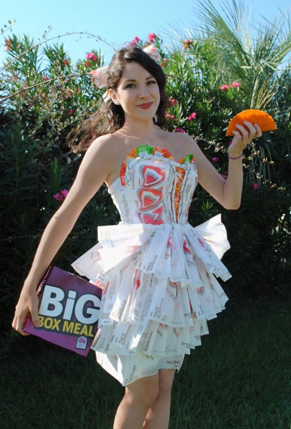 Dress Made of Taco Bell Taco Wrappers - Neatorama