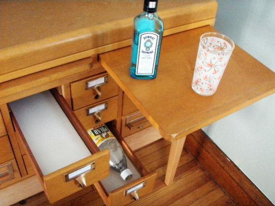 Library Card Catalog Cabinet Now a Liquor Cabinet - Neatorama