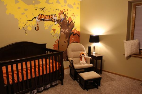 Imgur User Overflight Wanted A Calvin And Hobbes Themed Nursery. Inspired  By Other Such Projects, She Painted A Large Mural On One Wall, Showing  Calvin And ... Part 47