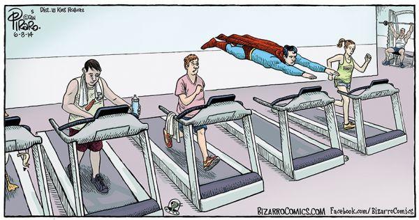 Superman At The Gym Neatorama
