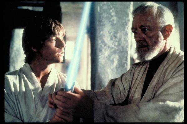 Resultado de imagen de obi wan kenobi y luke skywalker