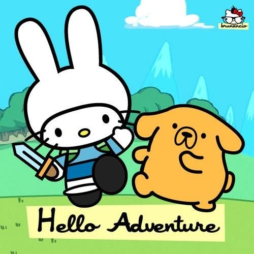 Adventure Time/Hello Kitty Mashup