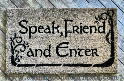 ... your doormat lets them know a little about you. Are you friendly,  efficient, OCD? What about geeky? That's right, now you can express your  nerdy self ... - 12 Geeky Doormats To Greet Your Guests - Neatorama