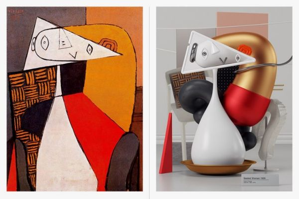Pablo Picassos Cubist Paintings Reimagined As D Forms Neatorama - 3d rendered experimental artworks