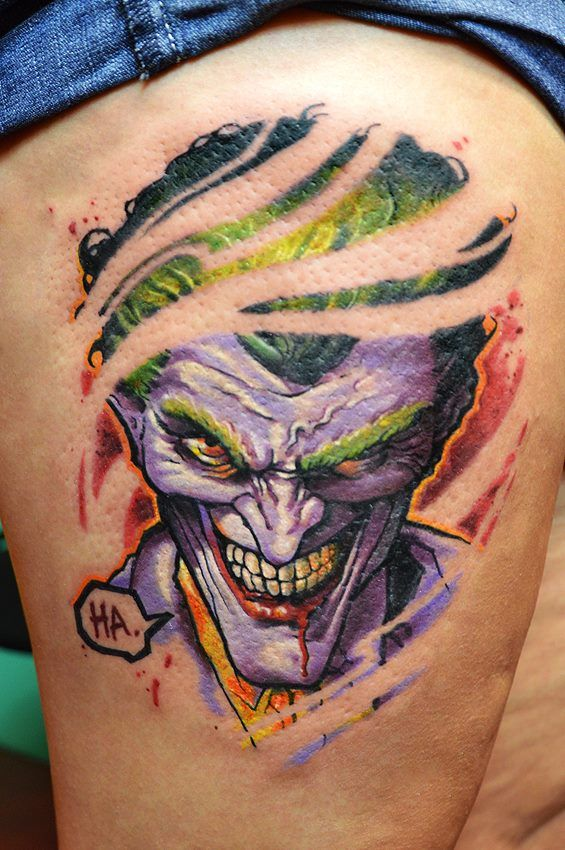 ripped joker tattoo neatorama