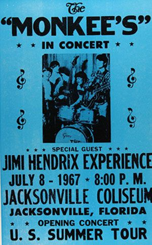 The Week Jimi Hendrix Toured with the Monkees