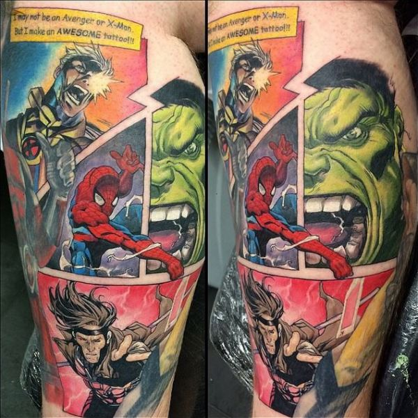 31 amazing marvel tattoos neatorama for Marvel comics tattoos