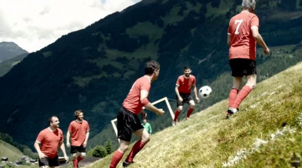 Extreme Alpine Soccer Is Played on Impossible Slopes
