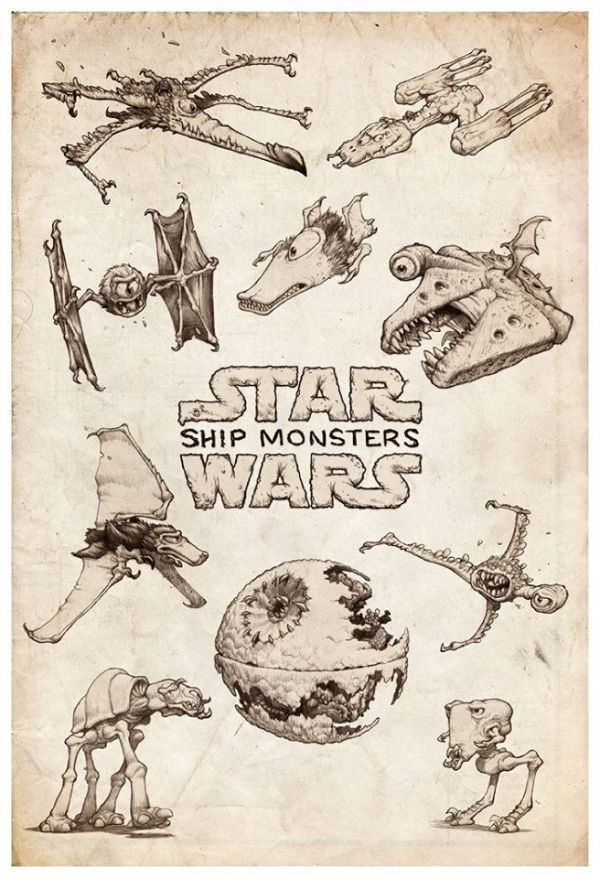 The Ship Monsters of Star Wars - Neatorama