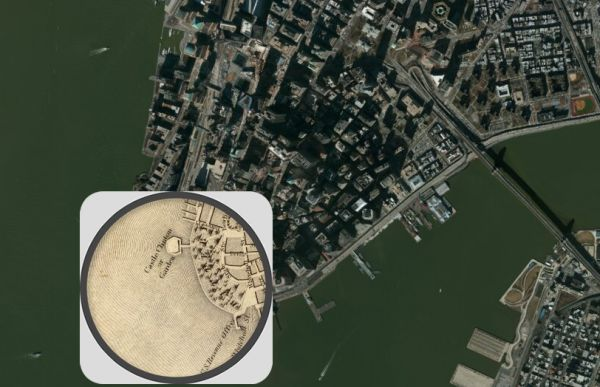 Interactive Map Compares New York City Of To Today Neatorama - Today satellite map