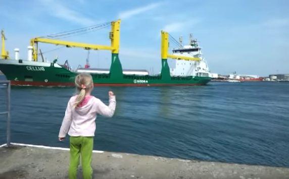 Honking at a Ship