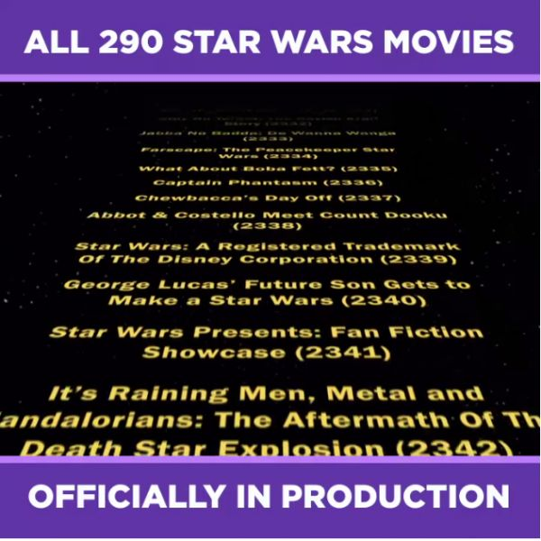 Heres All 290 Star Wars Movies Officially in Production Right Now