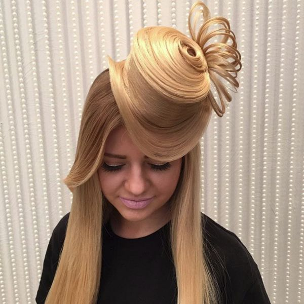 How To Style Your Hair Style Your Hair To Look Like A Hat  Neatorama
