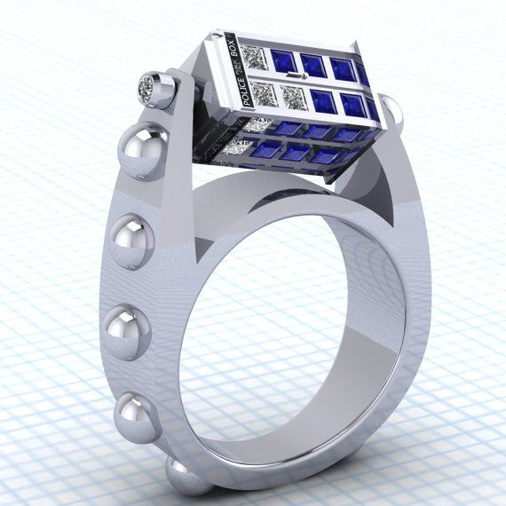 Spinning TARDIS Ring Neatorama