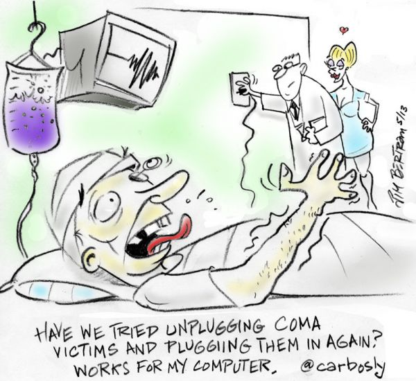 coma cartoon