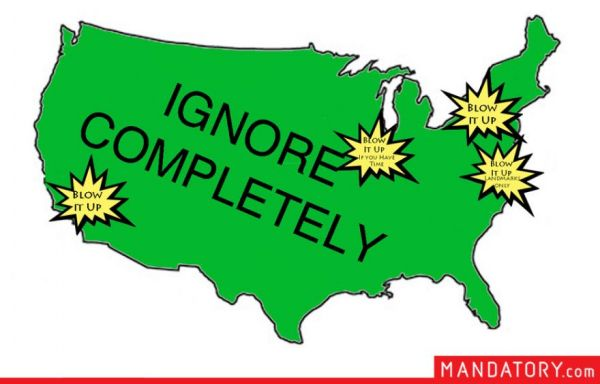 A Map of the United States as Seen by Invading Aliens  Neatorama