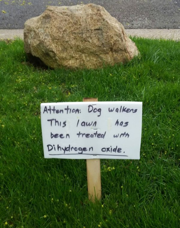 Warning for Dog Walkers