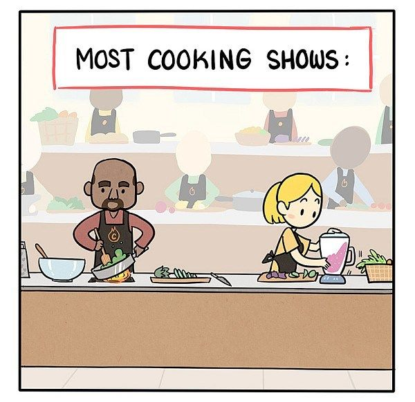 Most Cooking Shows Vs. American Cooking Shows