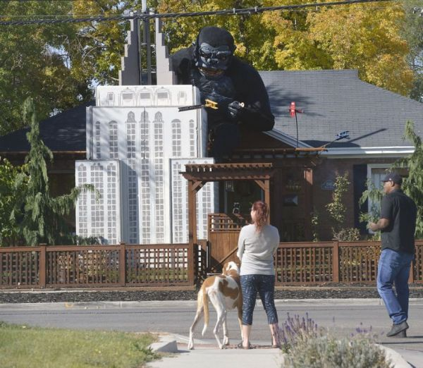 People Are Going Ape For This Guy's Massive King Kong Halloween Display