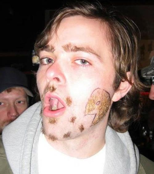 Pac-Man beard