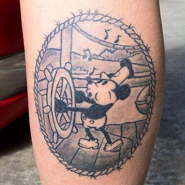 35 totally magical disney tattoos neatorama for Disney world tattoos
